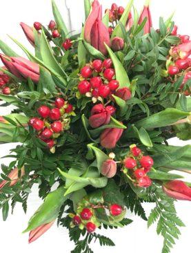 Bouquet tulipani rossi