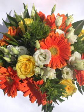 Bouquet giallo arancio
