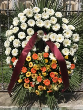 Corona funebre gerbere