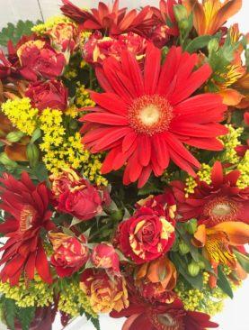 Bouquet rosso e giallo
