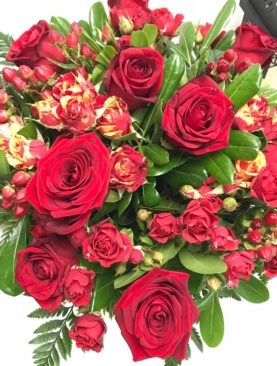 Bouquet rose rosse