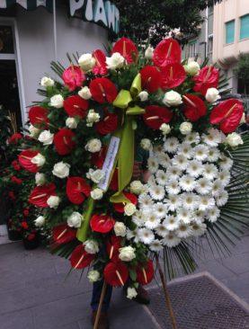 Corona funebre anthurium rossi