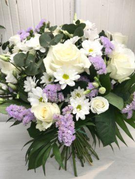 Bouquet bianco e lilla