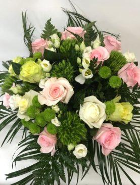 Bouquet di rose bianche e rosa