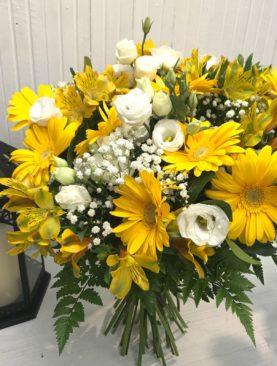 Bouquet fiori gialli e bianchi