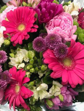 Bouquet misto fucsia