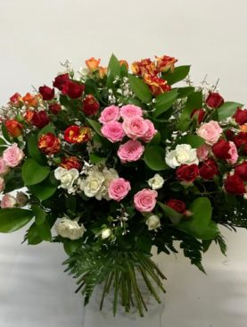 Bouquet di rose spray, colori misti