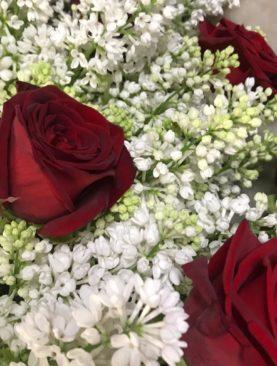 Lillà bianchi e rose rosse