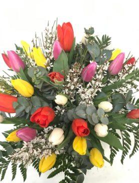 Bouquet di tulipani dai colori misti