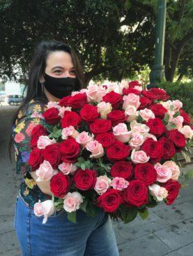 bouquet da 80 rose extra
