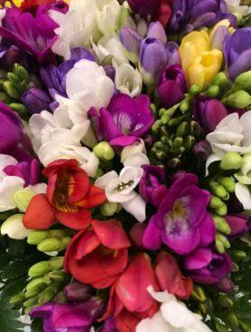 Bouquet di fresie miste